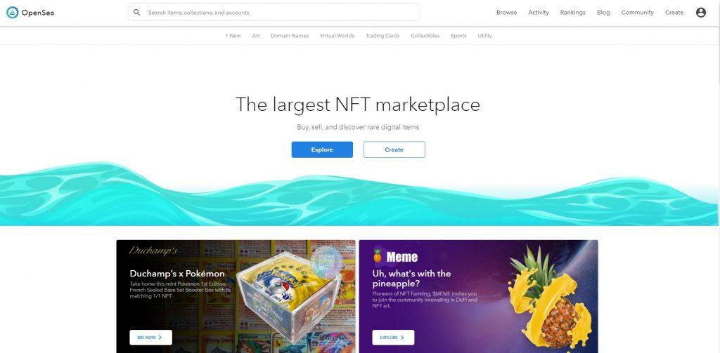 OpenSea - NFT Marketplaces